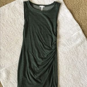 Leith bunched, teal dress